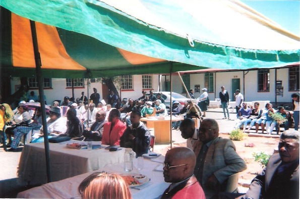 Members of the community, community leaders, healthcare officials, hospice board members, other organisations etc, at the celebration of the hospice day 2012