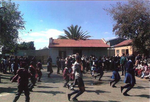 """Various high school children offered to spend the day at the hospice entertained by dancing the famous """"Sarafina Dance"""""""